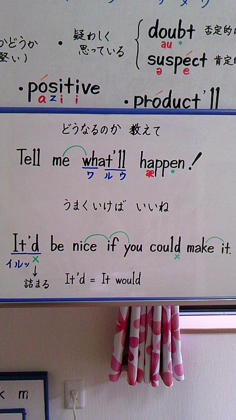 あめりか英語 発音くらぶ:短縮形 「what'll」 「It'd」 「son'll」 って どんな発音?