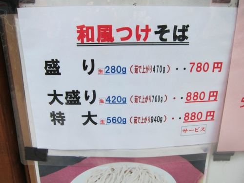 成み屋 (駒沢大学) おおいに値上げするの巻
