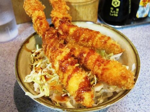 甲斐そば (大森海岸) 海老フライ丼セット