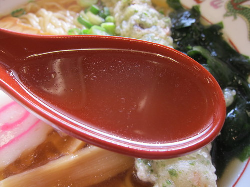 麦の城 (大森) 和風ラーメン+ちくわ天