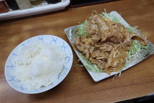 光楽亭 (大森) 肉シヨーガヤキとライス小