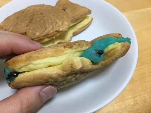 くりこ庵のチョコミントあんタイ焼き